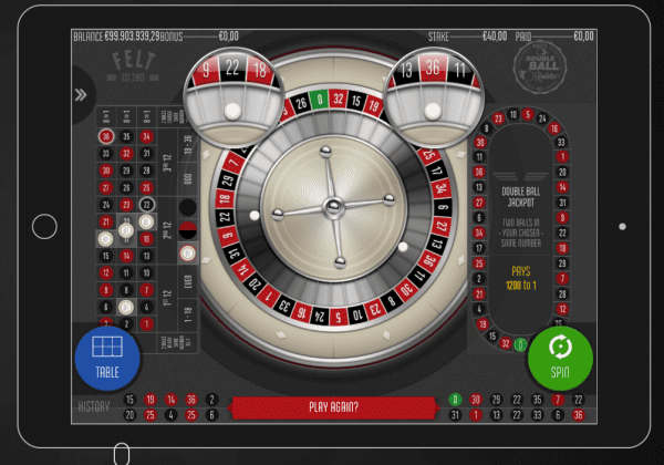 Win twice as much with the Double Ball Roulette developed by FeltGaming