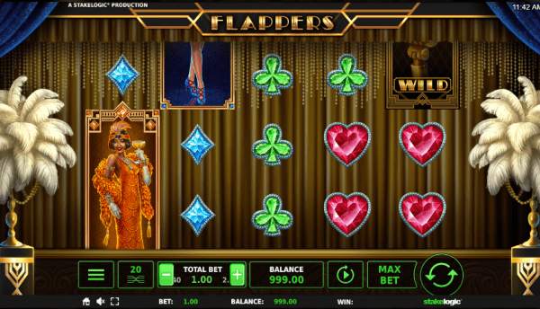 Flappers slot can be played in any Stakelogic casino