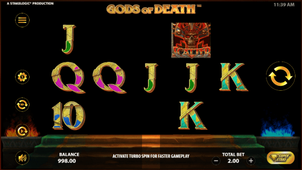 Gods of Death is an Egyptian-themed slot by Stakelogic