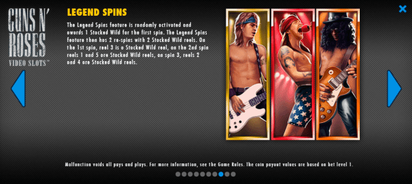 The Guns N' Roses legendary spins feature will reward you with amazing prizes