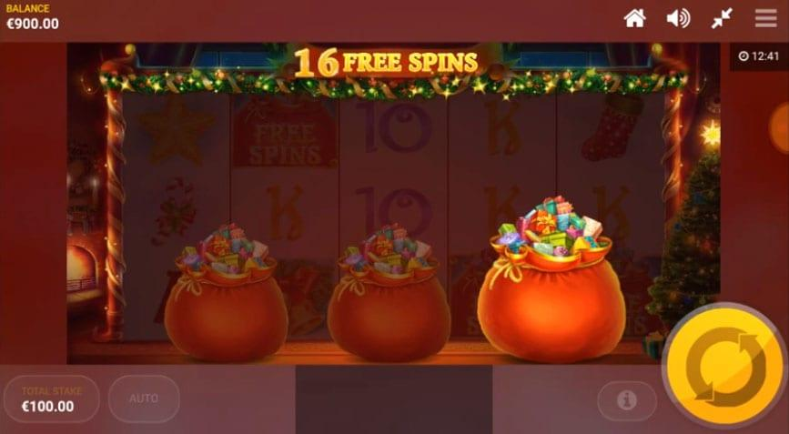 Jingle Bells Free Spins: Free Spins are triggered by landing 3 or more of the Free Spins symbol anywhere on the reels.