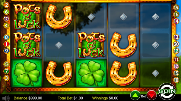 Test your luck with Pots'o luck slot created by Betdigital