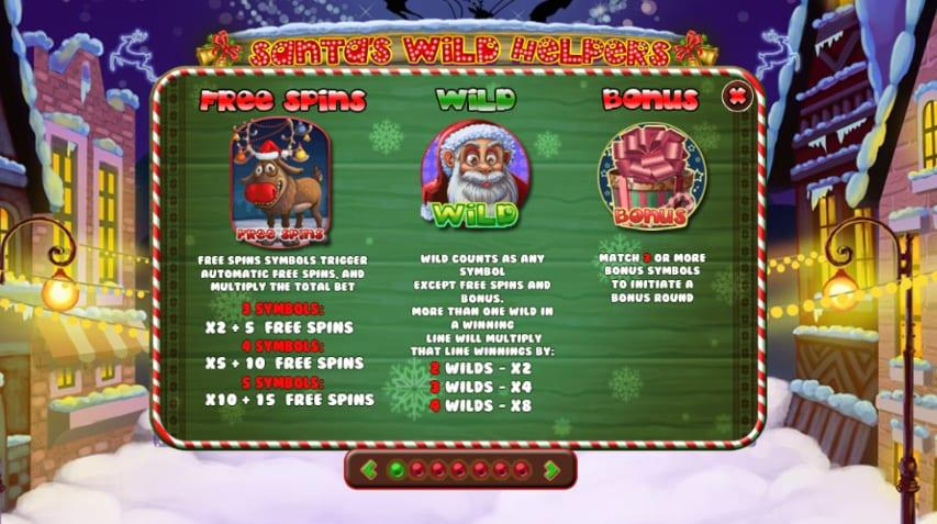 Santa Wild Helpers Symbols: Santa Wild Helpers has also some special symbols included which can trigger the special features of the game.