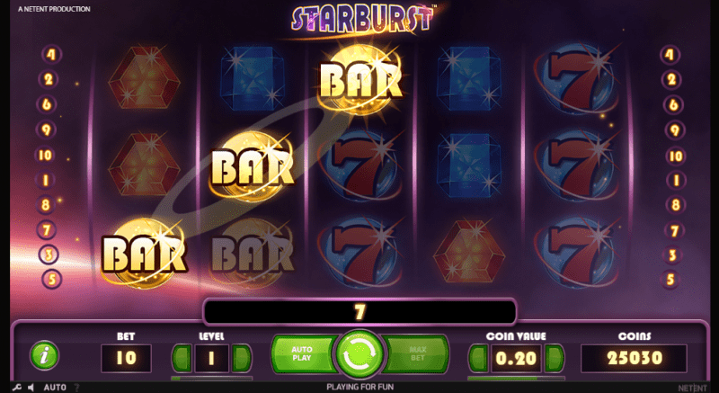 Starburst RTP: Starburst has an RTP of 96,1% which indicates that it has a much higher payout rate than most of the online slots.