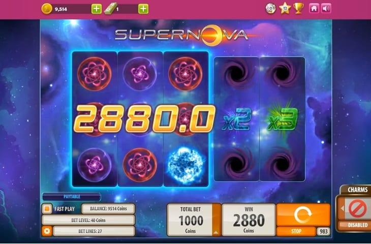 Supernova RTP: This stunning slot has an RTP equal to 97.05% and you can spin away with coin value as little as $0.01 and as much as $2.