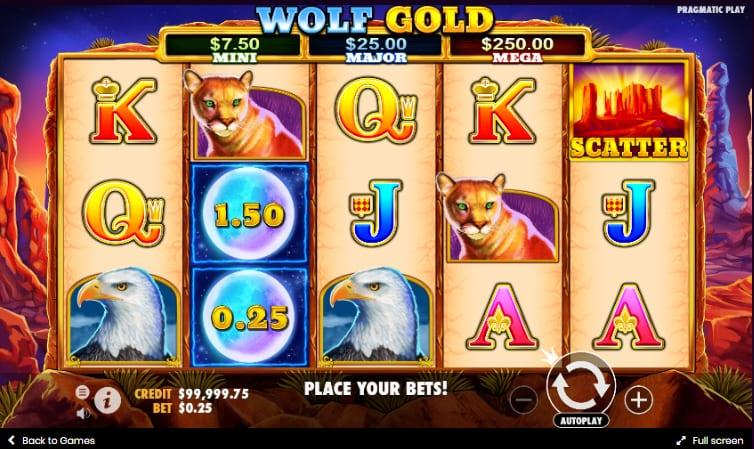 Wolf Gold Symbols: There are different variables to be considered when selecting your stake and by adjusting different options you can change the amount you bet on every single spin.