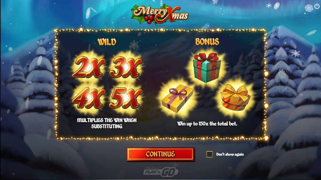 Merry Xmas Symbols: There are four wild symbols in the game represented by multipliers of 2x, 3x, 4x, and 5x.