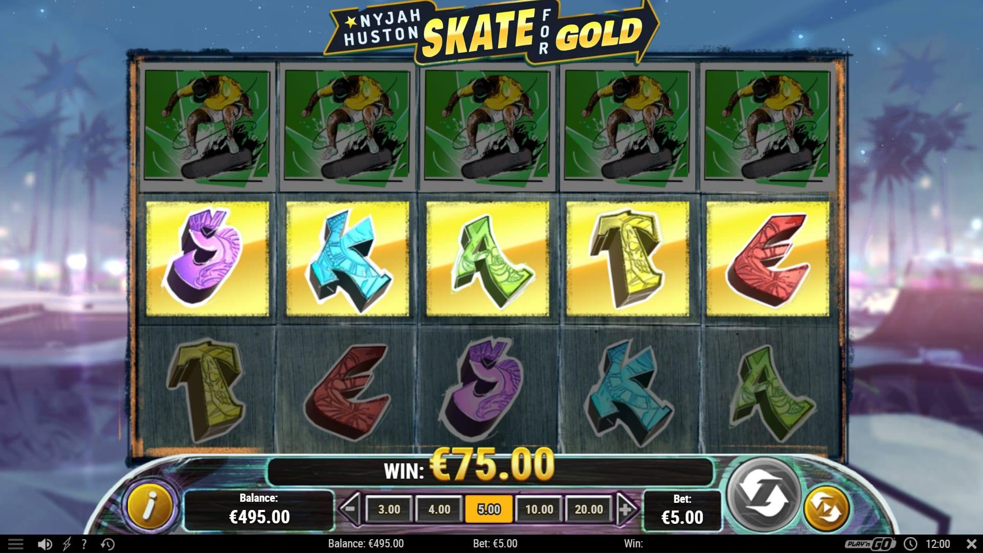 Bonus Features and Free Spins: If you land the golden S, K, A, T, and E letters in that order, you will receive 12 Free Spins.