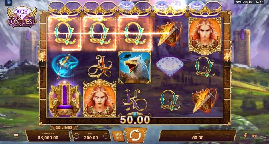 Age of Conquest RTP: This breathtaking slot game has an RTP equal to 96.14% and you can spin away with a bet ranging between £0.20 and as much as £200.