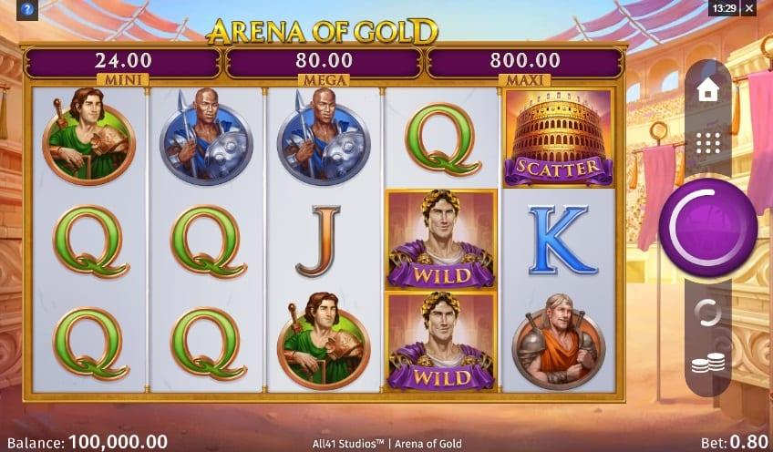 Arena Of Gold Slot Symbols: The wild symbol in this game carries the likeness of a regal Roman emperor and can substitute for any symbols except for coins and scatters.