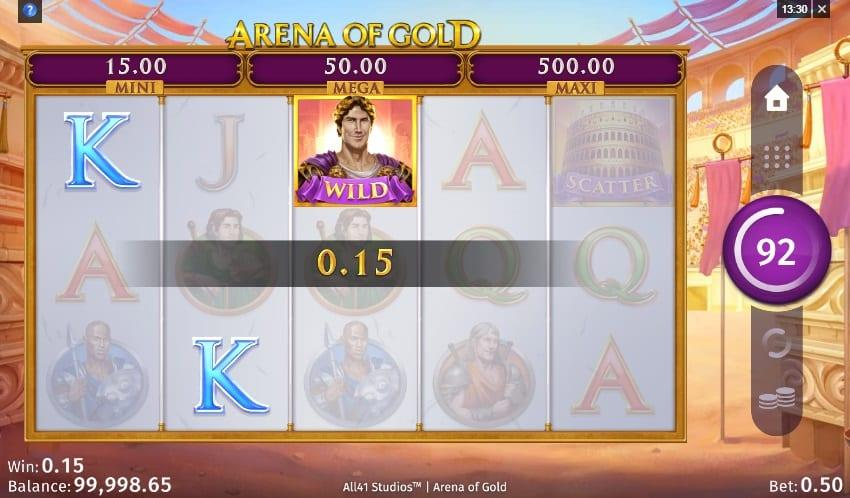 Arena Of Gold Slot Paytable:  The low-paying symbol in this game are represented by the J, Q, K and A inspired by the classic playing cards deck.