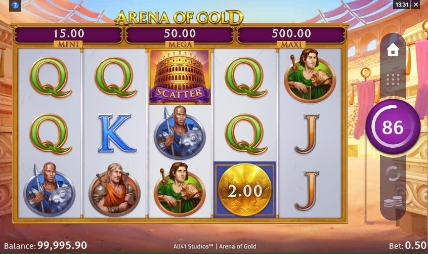Arena Of Gold RTP: This breathtaking slot game has an RTP equal to 96.20% and you can spin away with a bet ranging between $0.10 and as much as $50.
