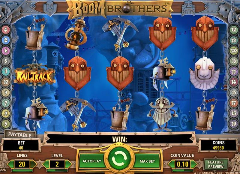 Boom Brothers RTP: This stunning slot has a theoretical RTP equal to 96.4% which is quite good when compared to other slots.