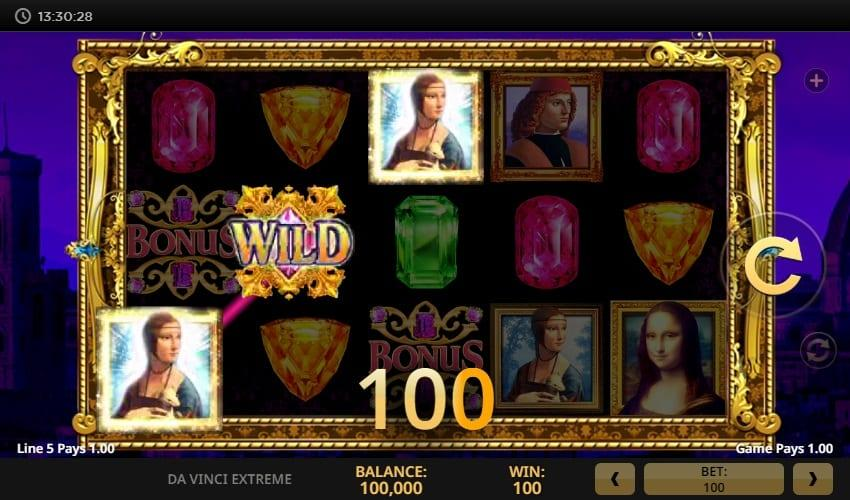 Da Vinci Extreme RTP: This intriguing multiline slot comes with an RTP of 96.20% and your bet can vary between $0.20 and $300.