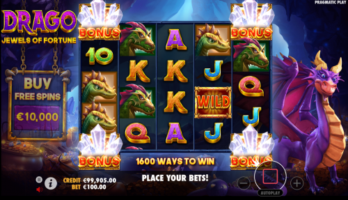 Drago – Jewels of Fortune RTP: This intriguing slot game has an RTP equal to 96.50% and you can spin away with a bet ranging between $0.20 and as much as $200.