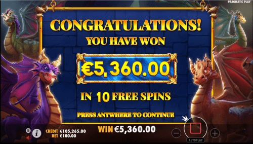 Bonus Features and Free Spins: The biggest bonus you can get in this game is the free spins rounds. You can activate them by landing four white crystal symbols in the corners of the reels.