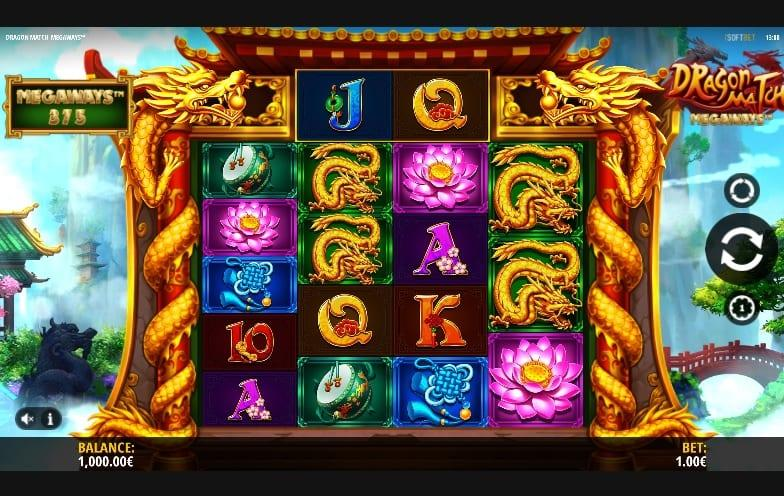 Dragon Match Megaways Symbols: You will also encounter special symbols such as wilds and scatters. The wild symbols is represented by a gold dragon head that grants you some additional wilds.