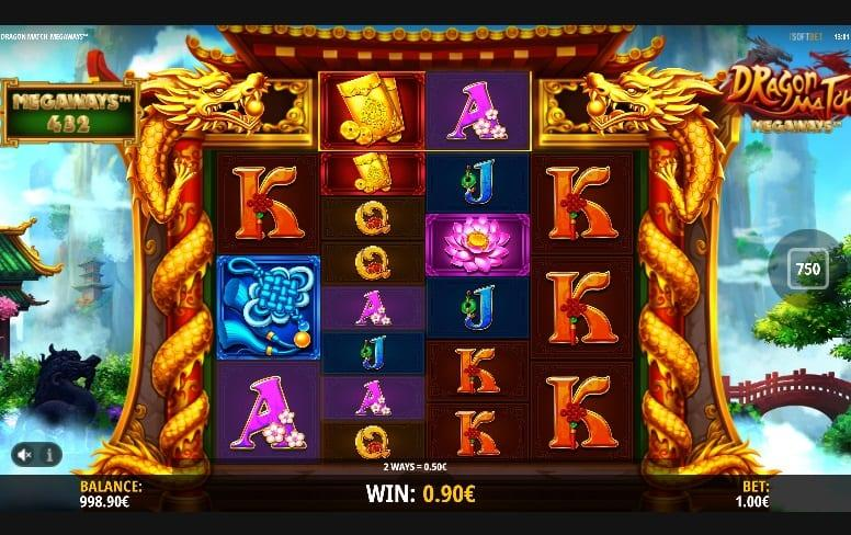 Dragon Match Megaways RTP: This breathtaking slot game has an RTP equal to 96% and you can spin away with a bet ranging between $0.20 and as much as $20.