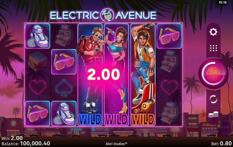 Electric Avenue RTP: This Microgaming title has an RTP of 96.37% and a betting range that starts at $0.20.