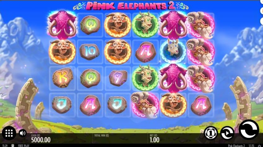 Pink Elephants RTP: Pink Elephants slot has 6 reels and 4 rows across which you will land high-paying combinations.