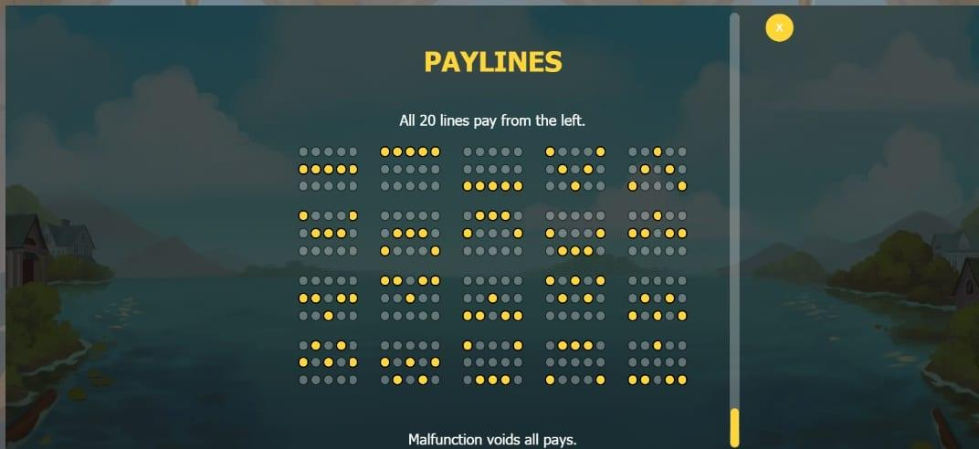 Jackpot Express Paytable: The regular lower-value symbols in the game consist of brightly colored casino chips, in yellow, green, pink, and blue.