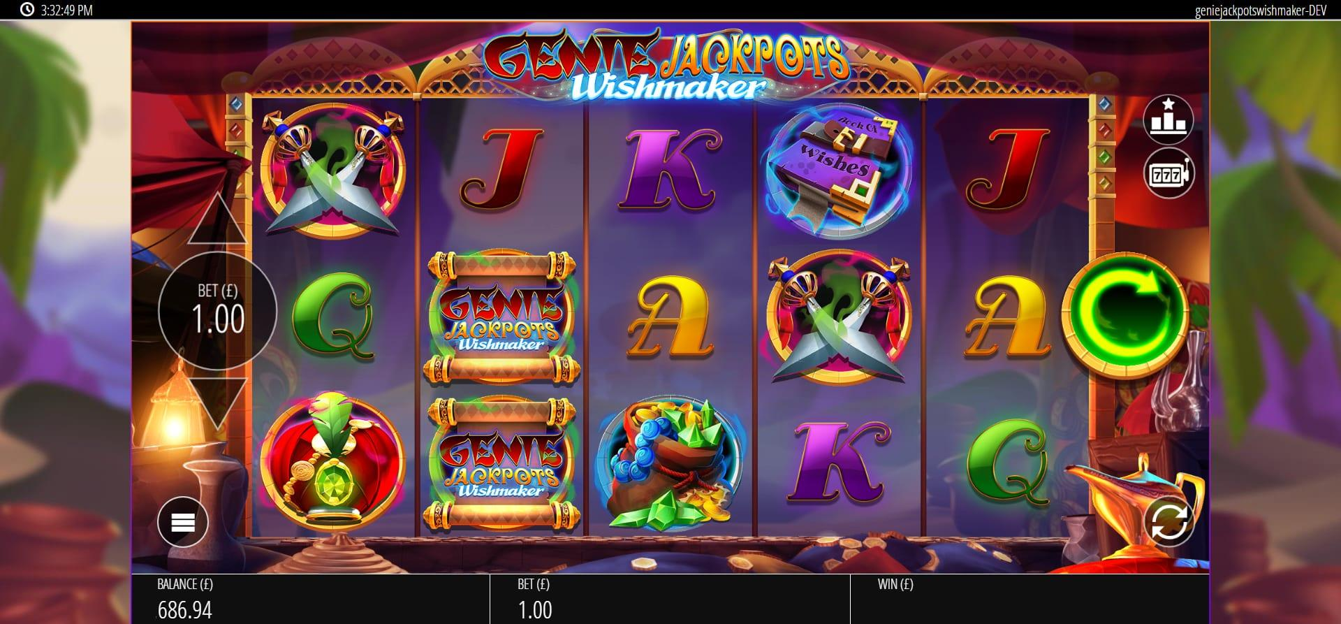 Genie Jackpots Wishmaker Symbols: Since this slot is yet to be released, we cannot say what special symbols will be included. However, there is no doubt that this game will have some amazing special symbols that will make your experience as profitable as possible.