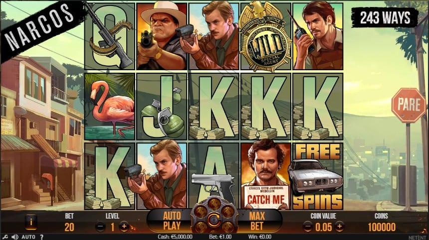 Narcos RTP: This stunning slot has an RTP of 96.23% and a medium to high volatility rate which indicates that you will have a fair chance of winning big.