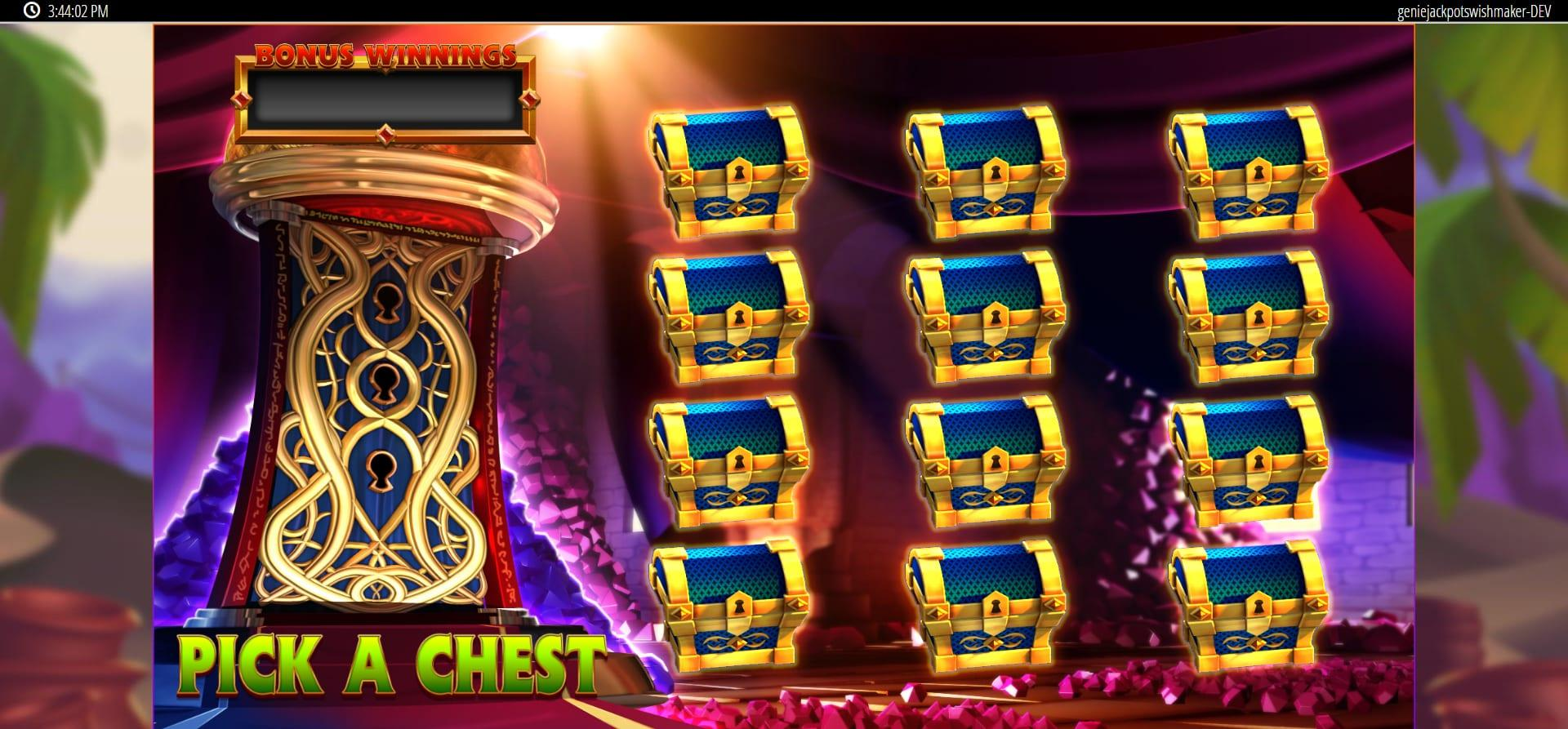 Genie Jackpots Wishmaker Paytable: The low-paying symbols in this slot game are inspired by the classic playing cards deck. You will encounter skillfully designed Js, Qs, Ks and As that follow that fit the theme perfectly.