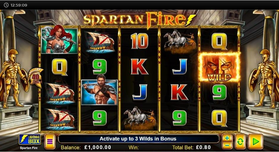 Spartan Fire RTP: This breathtaking slot game has an RTP equal to 95.85% and you can spin away with a bet ranging between $0.40 and as much as $24.