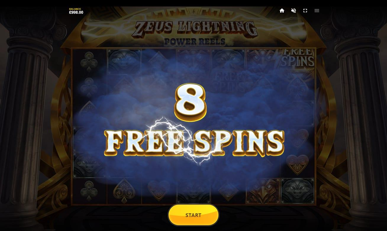 Zeus Lightning Power Reels Slot Paytable:  In the paytable of Zeus Lightning Power Reels, you will find 5 high-paying symbols and 4 low-paying symbols.
