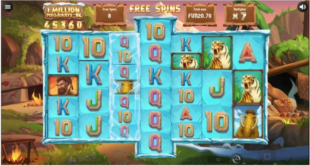 1 Million Megaways BC Slot Paytable