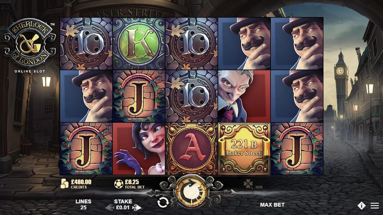 Sherlock Of London Slot Symbols: The Wild Symbol is represented by the great Sherlock Holmes himself, and acts as a substitute to all other standard symbols, except for the Scatter.