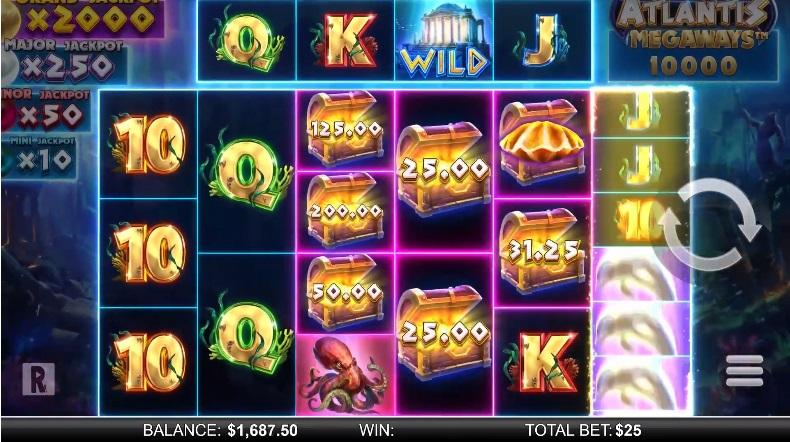 Atlantis Megaways Paytable:  Overall, in the paytable, there are 10 regular symbols among which you will see 5 high-paying and 5 low-paying icons.