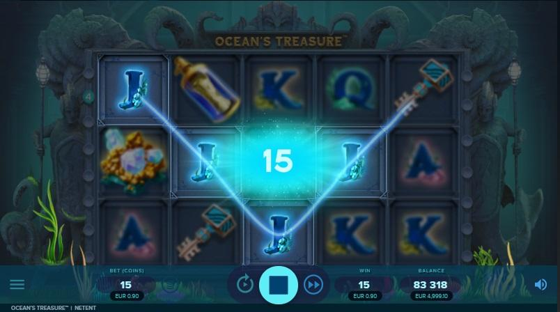 Ocean's Treasure RTP: Ocean's Treasure has a great RTP of 95.99%, bet ranging from $0.15 to $300, and maximum available win of 1,500x your total stake or $450,000.