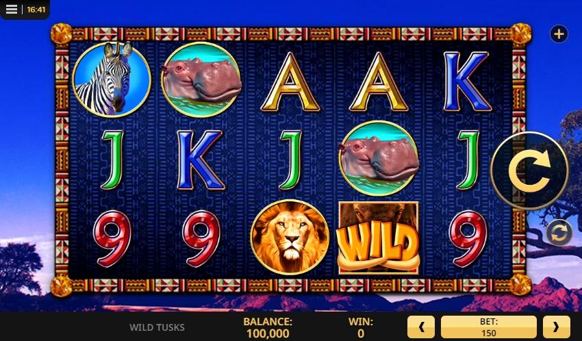 Wild Tusks Slot Symbols: At this exceptional slot game players will encounter the classic card symbols like A,Q, K, 10, and J.