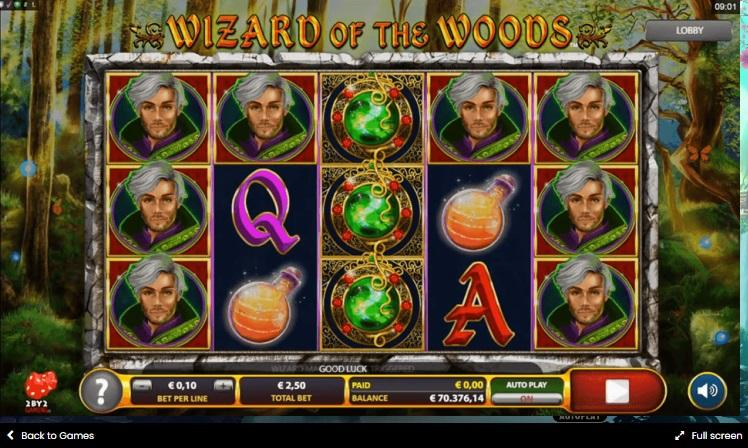 Wizard of the Woods Symbols: Apart from the regular symbols in the slot, there are some special symbols which are responsible for triggering the special features of the game.