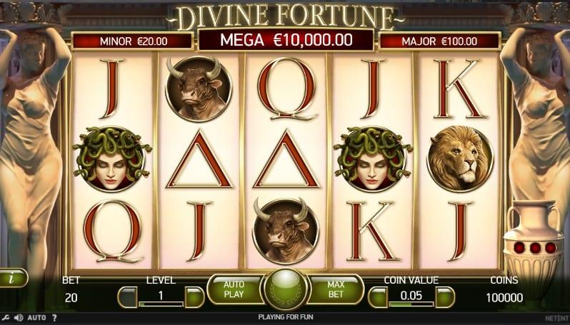 Divine Fortune Slot Symbols Explained: As the Divine Fortune slot is inspired by Greek mythology, you can expect different symbols of the Greek influence, which provides for a magical experience.