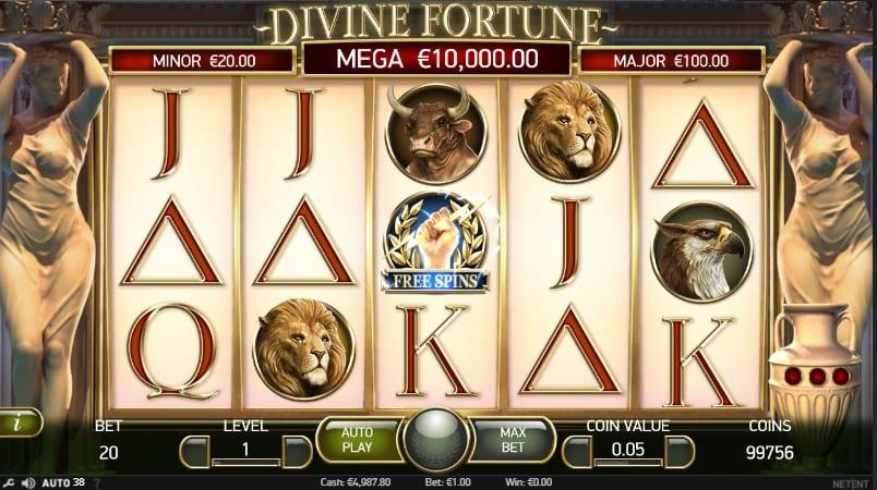 Divine Fortune Slot Return to Player: In this case, the RTP of Divine Fortune slot is 96.59%, which is about average for slot machines of this type.