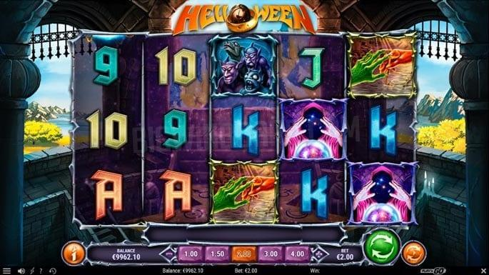 Helloween Slot Symbols: Play 'N Go has been developing the slot with various special features such as Bonus Wheel, Collect Symbols, Random Multiplier, Retrigger.