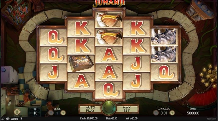 Jumanji Slot Return to Player: Most NetEnt slots come with a high RTP and the Jumanji slot is no exception. This slot has 96.3% RTP.