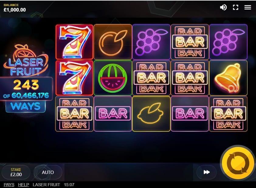 Laser Fruit Slot RTP