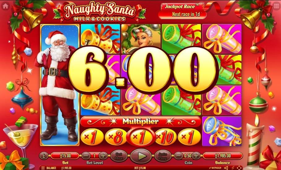 Naughty Santa Paytable