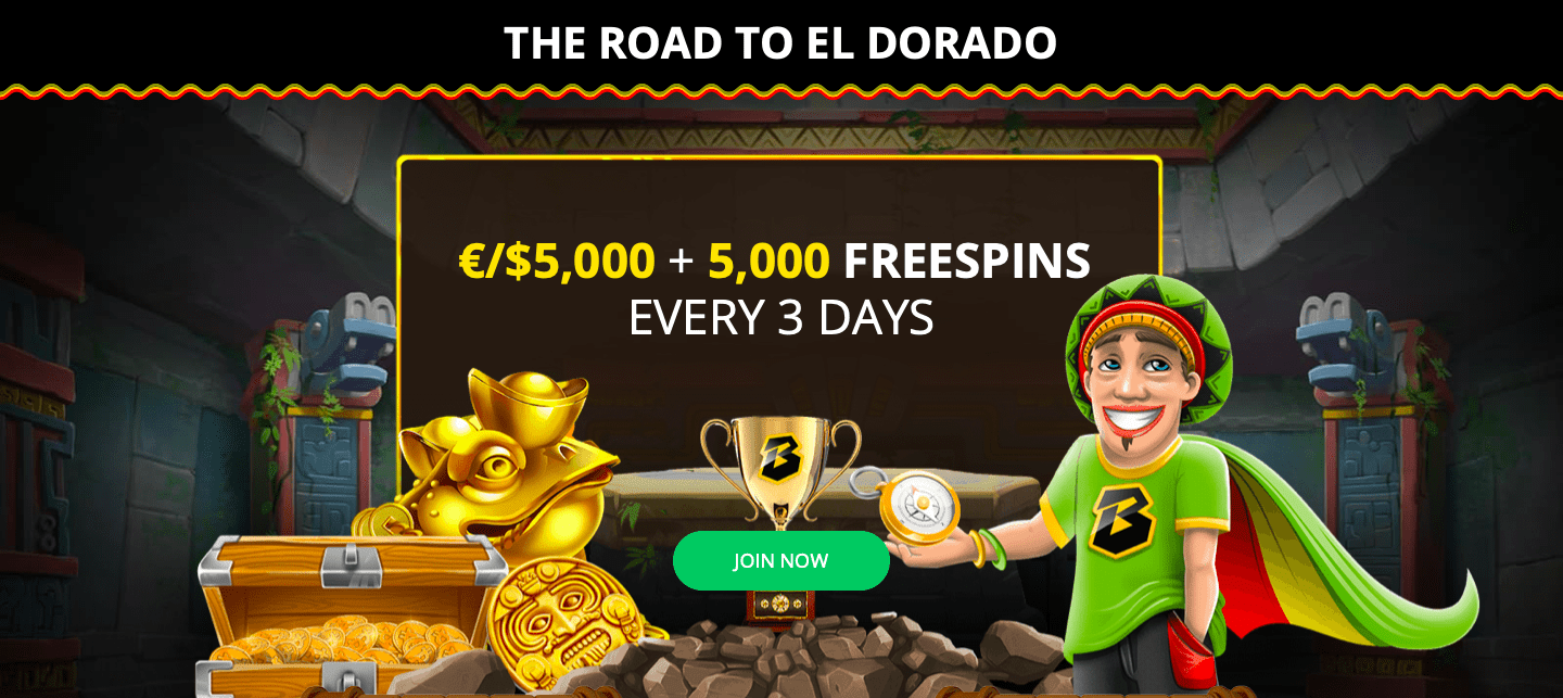 The Road To El Dorado is Waiting For You at Bob Casino