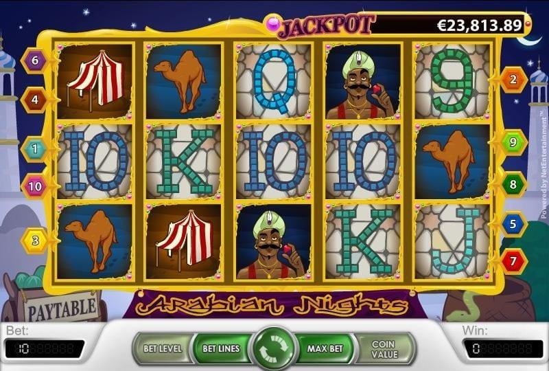 Arabian Nights Slot Symbols Explained: The symbols in this slot depict what you might encounter in the Arabian Desert.