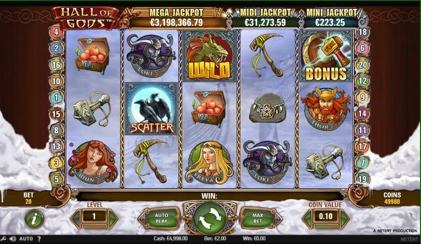 Hall of Gods Slot Return to Player - RTP: As far as Hall of Gods is concerned, it has a particularly impressive Return to Player percentage as well, which sits at a healthy 95.5%.