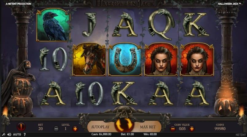 Halloween Jack Symbols: This slot does not fall short when it comes to special symbols. First, you have the grinning Jack O' Lantern which serves as a wild.