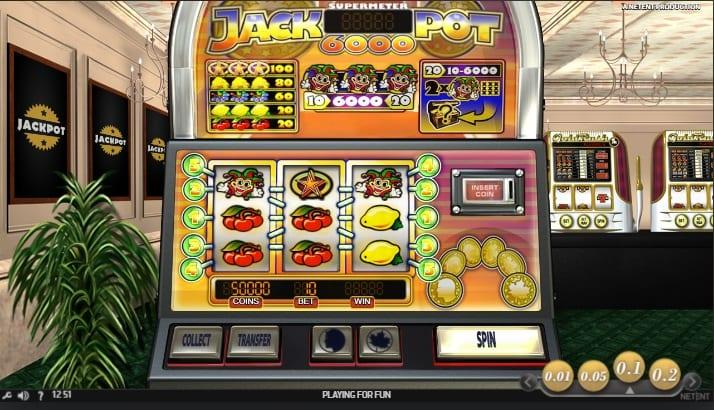 Jackpot 6000 Slot Return to Player: Jackpot 6000 has a quite high RTP of 98.90%, that makes it a preferred slot machine amongst gamblers.