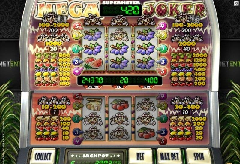 Mega Joker Jackpot Paytable: The main game of Mega Joker presents some regular symbols which are traditionally used in classic fruit machines.