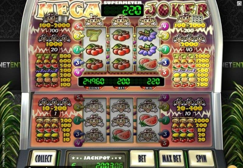 Mega Joker Jackpot Symbols: If you get to play in the supermeter mode, there are additional symbols that are added to the reels including oranges, grapes, and lucky sevens.