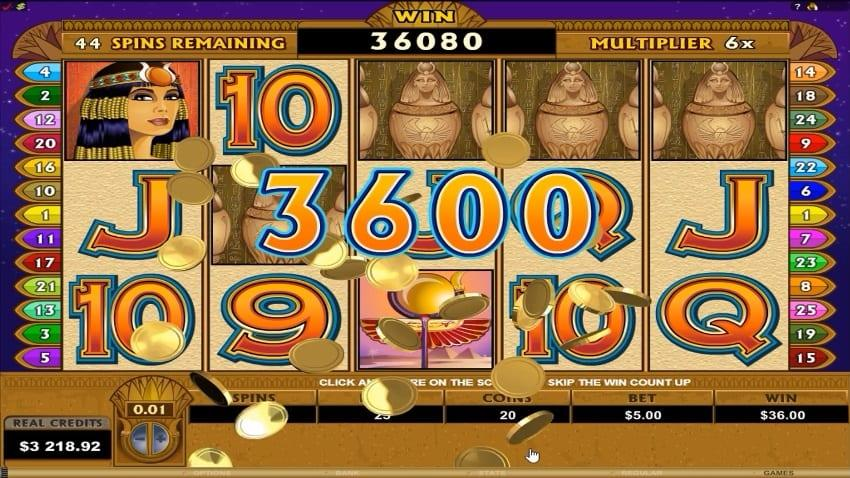 Mega Moolah Isis Slot Symbols Explained: You will find only two special symbols in this Microgaming progressive slot.